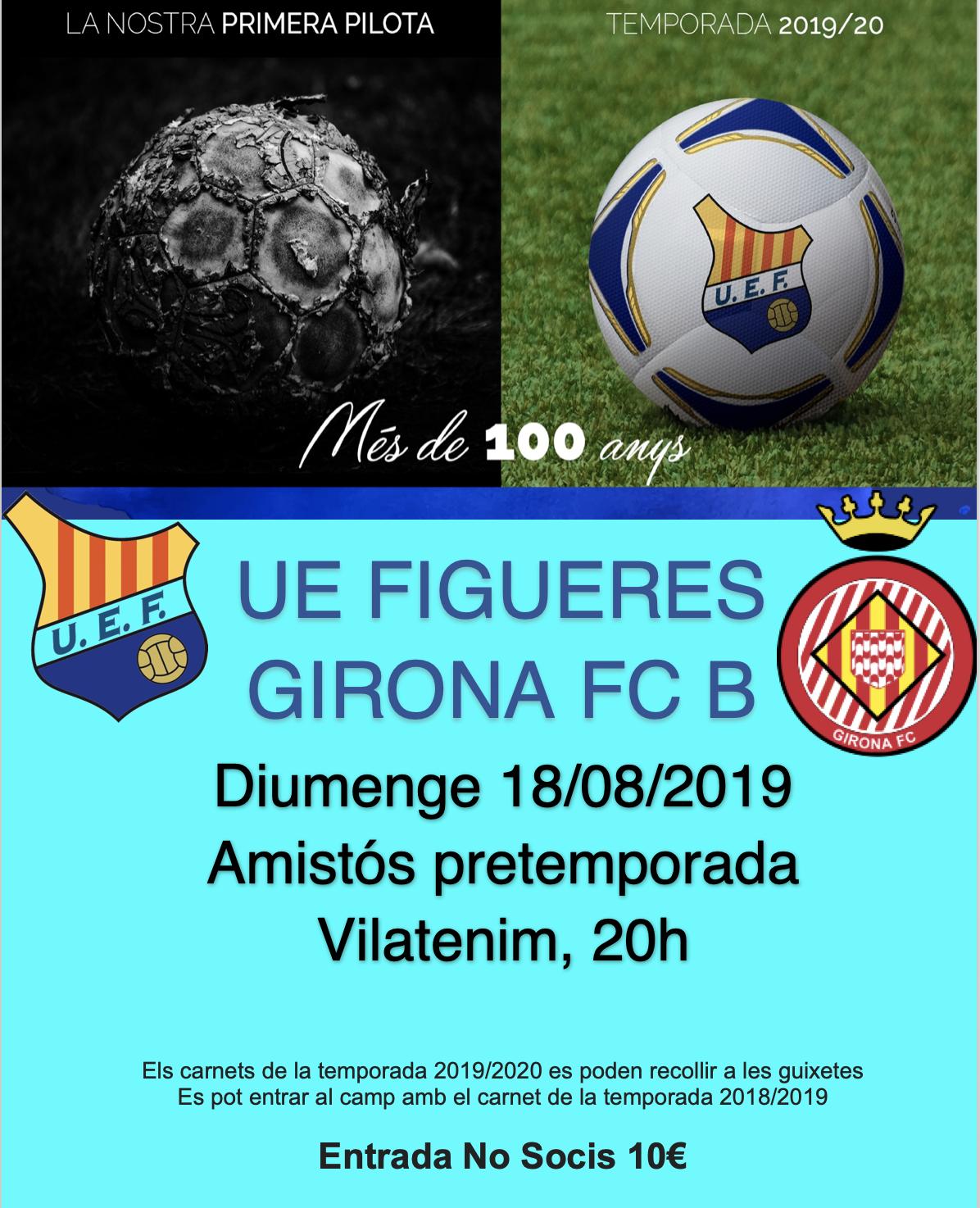 Amistós UE Figueres-Girona FC B